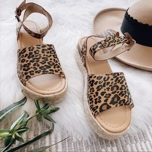 Shoes - Leopard Espadrilles